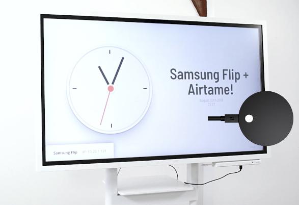 samsung flip + airtame